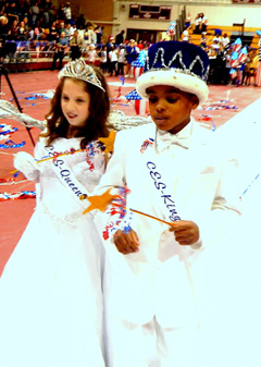 Queen Alaina Francingues and King Taj Lewis,