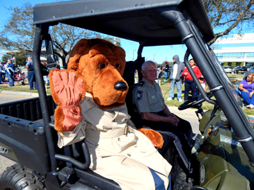 McGruff the Crime Dog, portrayed by Greer Cuccia of the Sheriff's Office, was among the department's units in the parade.