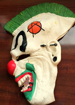 Clown mask recoverd in the arrests.
