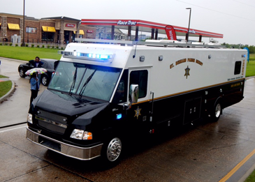 The Sheriff's Office mobile command post led the parade.