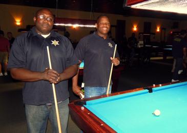 St. Bernard team members from left Dep. Lamont Dersone and Det. Sgt. Donald Johnson.