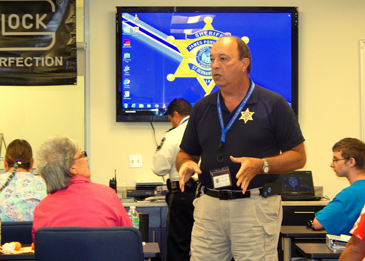 Capt. Charles Borchers, coordinator of the Citizens Police Academy.