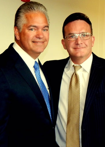 District Attorney Perry Nicosia with Sheriff Pohlmann.