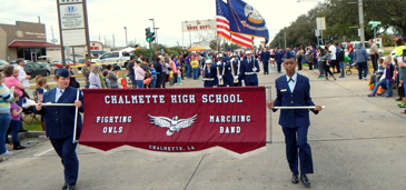 The Chalmette High band was a highlight.