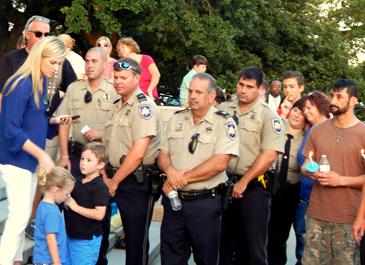 A group of St. Bernard Parish sheriff's deputies at the vigil.