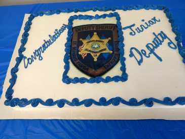 The cake enjoyed after the ceremony.