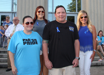 Organizers of the prayer vigil were, from left, Heather Fandino, Tim Levy, Charol Armand and, in back, Brittani Gillis.