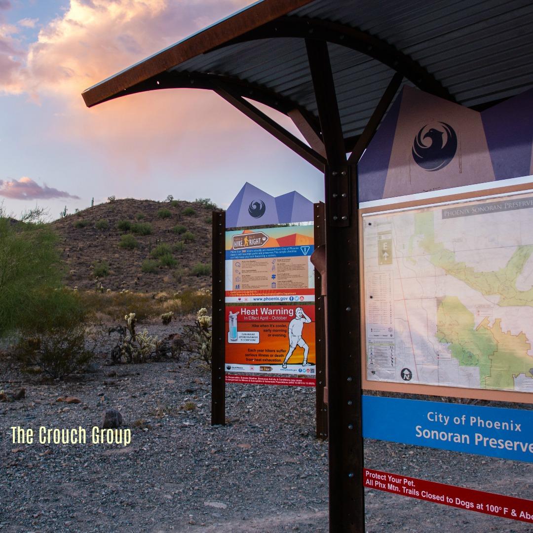 Sonoran Preserve Hiking Map at trailhead