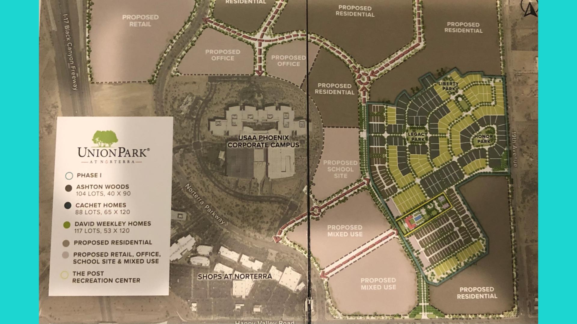 Master Plan for Union Park Norterra home sale