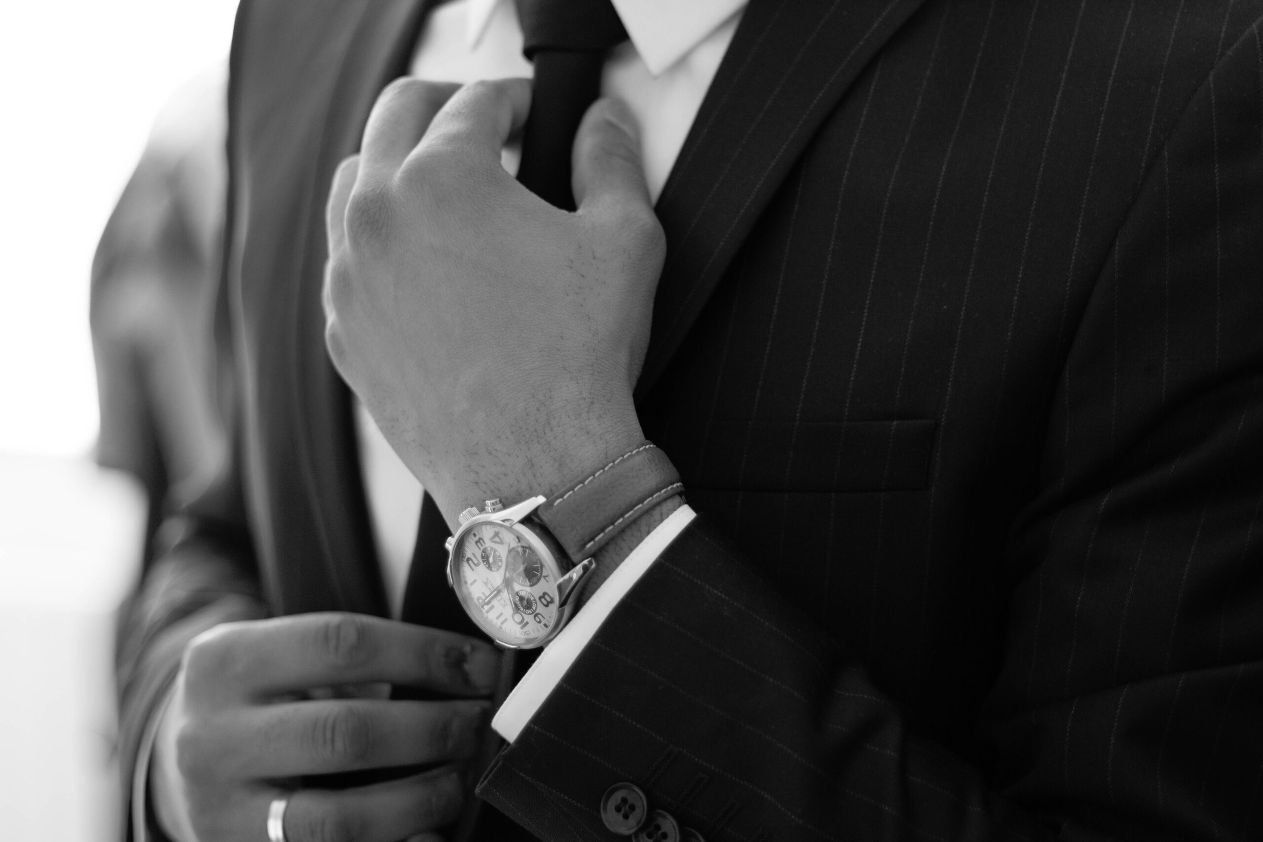 Suit Tie B&W