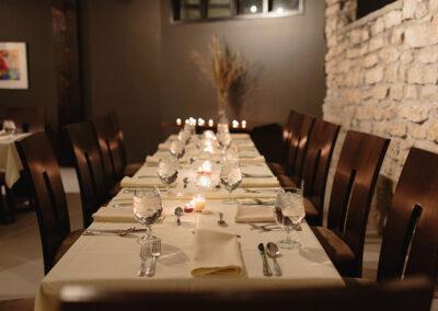 Kitchen Sync event dinner table arrangement