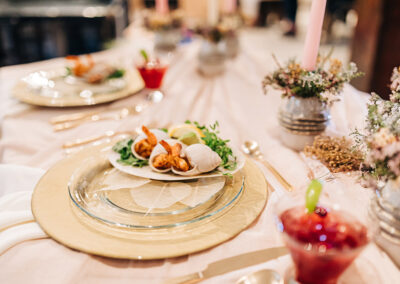 Kitchen Sync event - dinner table arrangment