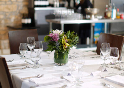 Kitchen Sync event dinner table arrangment