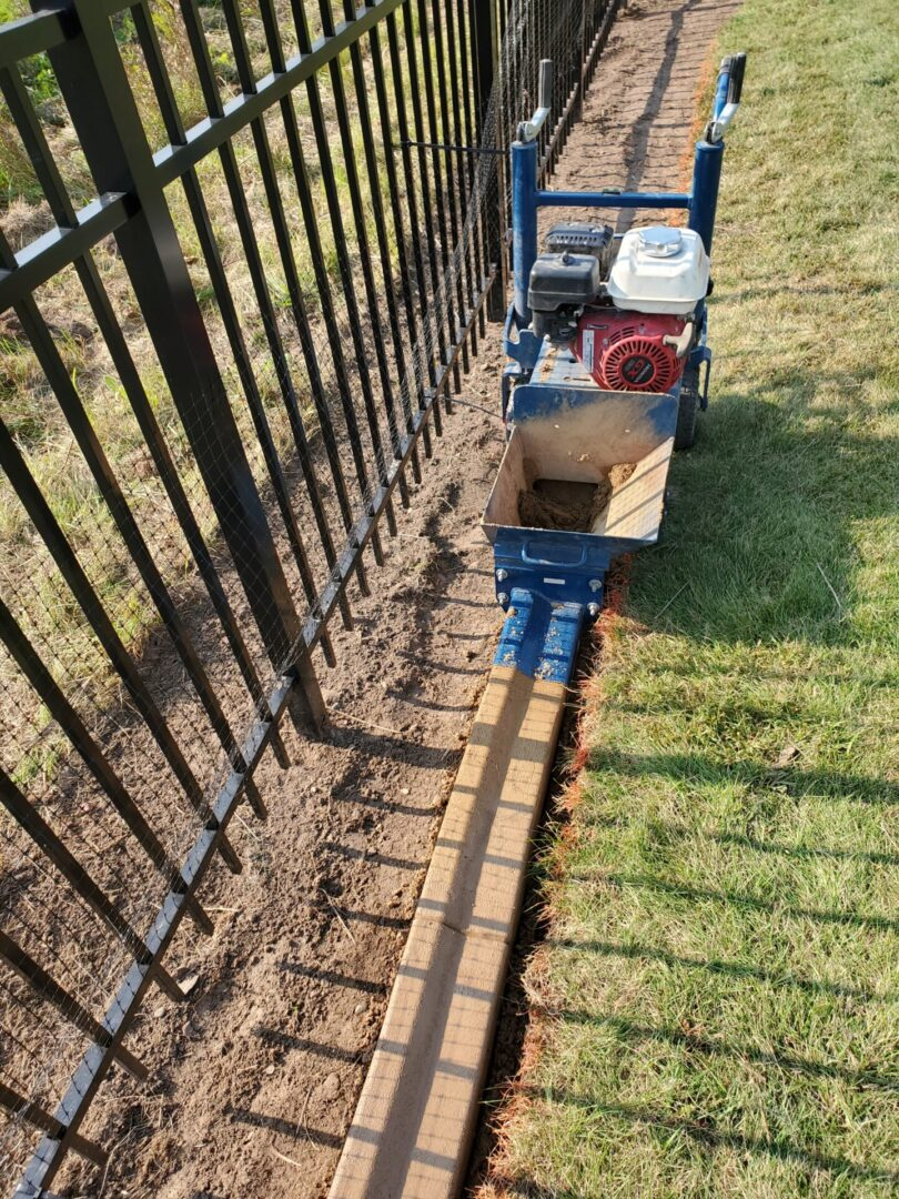 Installing concrete edging