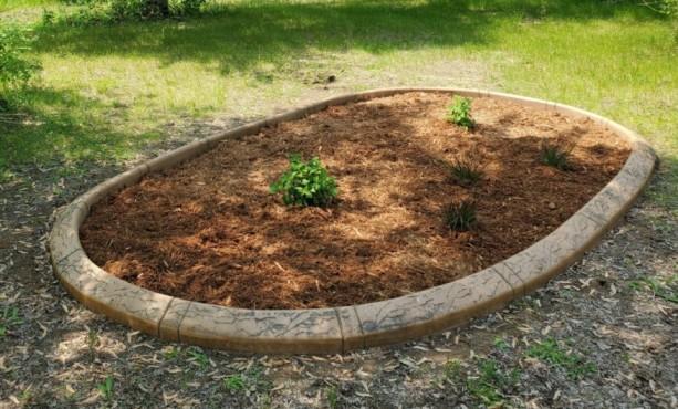 an empty garden plot