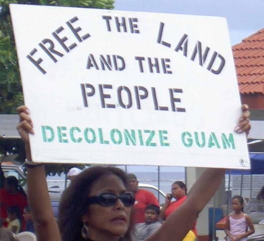 Chamoru protesting proposed military buildup