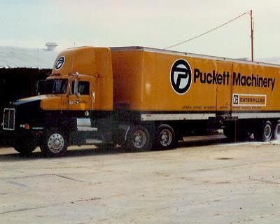 Vintage photo of Puckett Machinery Truck