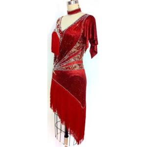 Crimson Flare Dress 4