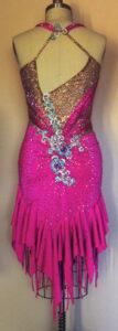 Bliss Dress luxury competition ballroom latin dress back