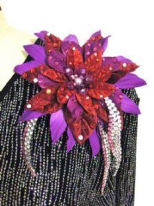 Blithe plus size designer competition latin dress flower