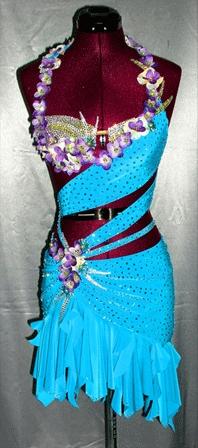 Electric Bouquet latin rhythm ballroom dress