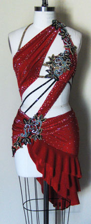 Dangerous Beauty latin dress front