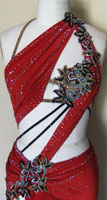 Dangerous Beauty latin dress with Swarovski crystals embellishments