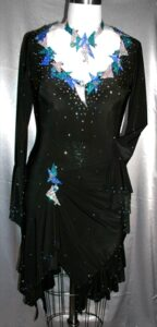 Deco Blast custom latin dress