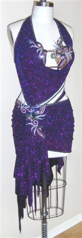 Enigma latin dance competition dress for sale