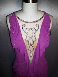 Escape ballroom latin dress custom made