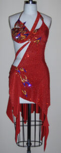 Flames Of The Spirit dancesport latin dress
