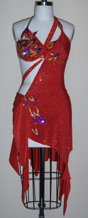 Flames Of The Spirit dancesport latin dress