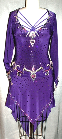 Royal Flash latin rhythm dress custom made