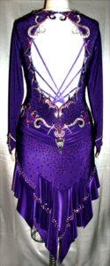 Royal Flash latin rhythm dress custom made