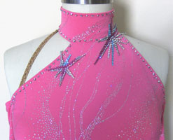 Star Glint Latin Dress Swarovski Crystals embellishments
