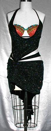 Kaleidoscope latin rhythm dress by Zhanna Kens