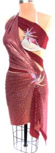 Luxurious Tropics couture latin rhythm dress for competition side