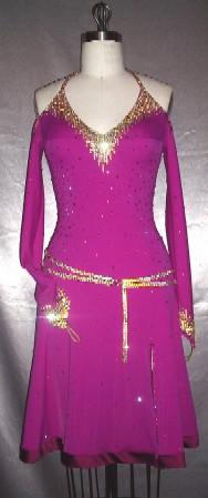 Metro Bliss ballroom competition latin dress