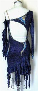 Midnight Illusion plus size competition rhythm dress back
