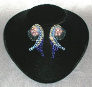 Midnight Bloom Dress clip on earrings
