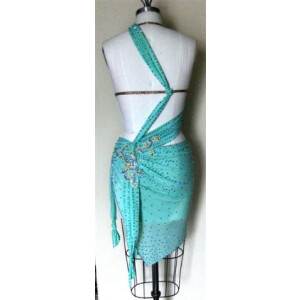 Fantasy Mint latin Dress custom