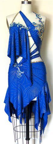 Mystic Sea designer competition latin dress front