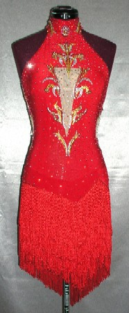 Spice latin rhythm competition dress