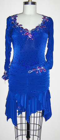Star Lite latin dance competition dress plus size