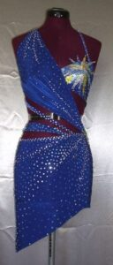Stars Dress latin rhythm dance costume