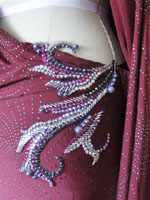 Red Vine Designer Latin Dress tampa