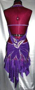 Violet Blaze latin rhythm competition dress by Zhanna Kens