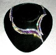 Violet Blaze ballroom dance necklace