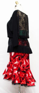 Latin dance Top with Latin Dance Skirt, Size 10-12