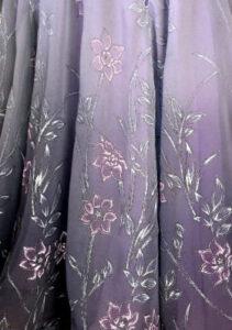 chiffon fabric for competition ballroom dance dress
